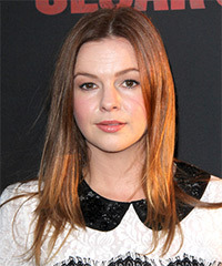 Amber Tamblyn Long Straight Casual    Hairstyle   -  Red Hair Color