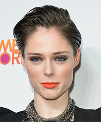 Coco Rocha Short Straight Formal    Hairstyle   -  Ash Brunette Hair Color