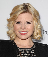 Megan Hilty Medium Curly Formal    Hairstyle   -  Golden Blonde Hair Color
