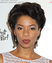 Angel Parker Short Wavy Formal    Hairstyle   - Black  Hair Color