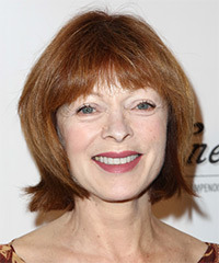 Frances Fisher Short Straight Casual    Hairstyle   -  Copper Red Hair Color