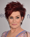 Sharon Osbourne Short Straight Casual    Hairstyle   -  Red Hair Color
