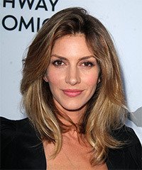 Dawn Olivieri Medium Straight Casual    Hairstyle   - Dark Blonde Hair Color