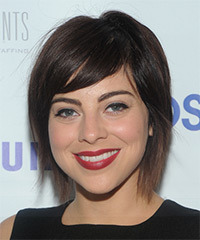Krysta Rodriguez Short Straight Casual    Hairstyle with Side Swept Bangs  - Dark Brunette Hair Color