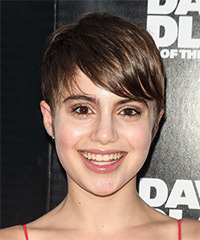 Sami Gayle Short Straight Casual    Hairstyle   -  Chocolate Brunette Hair Color