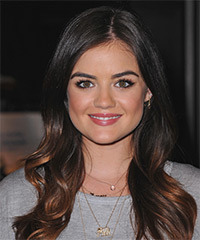 Lucy Hale Long Straight Formal    Hairstyle   - Black  Hair Color