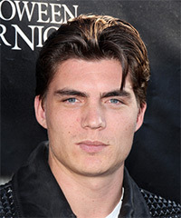 Zane Holtz Short Straight Casual    Hairstyle   - Dark Brunette Hair Color