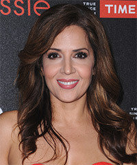 Maria Canals Barrera Long Wavy Casual    Hairstyle   - Dark Brunette Hair Color