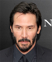 Keanu Reeves Short Straight Casual    Hairstyle   - Dark Brunette Hair Color