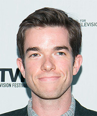 John Mulaney Short Straight Formal    Hairstyle   -  Ash Brunette Hair Color