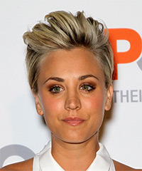 Kaley Cuoco Short Straight Casual    Hairstyle   -  Blonde Hair Color