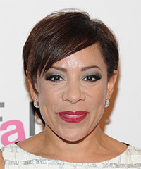 Selenis Leyva Short Straight Casual    Hairstyle   -  Chocolate Brunette Hair Color