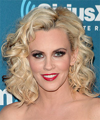 Jenny McCarthy Medium Curly Formal    Hairstyle   - Light Blonde Hair Color