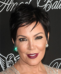 Kris Jenner Short Straight Casual    Hairstyle   - Black  Hair Color