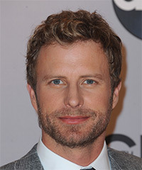 Dierks Bentley Short Curly Casual    Hairstyle   - Dark Golden Blonde Hair Color