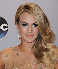 Carrie Underwood Long Wavy Formal    Hairstyle   - Dark Blonde Hair Color