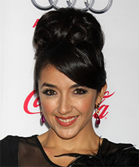 Yvette Yates Long Curly Formal   Updo Hairstyle   - Black  Hair Color