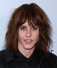 Katherine Moennig Medium Straight Casual    Hairstyle   -  Brunette Hair Color