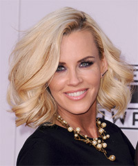 Jenny McCarthy Medium Wavy Formal    Hairstyle   - Golden Hair Color