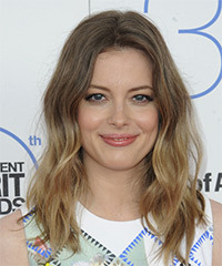 Gillian Jacobs Long Wavy Casual    Hairstyle   - Light Brunette and Dark Blonde Two-Tone Hair Color