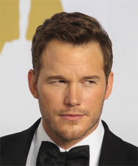 Chris Pratt Short Straight Formal    Hairstyle   -  Brunette Hair Color