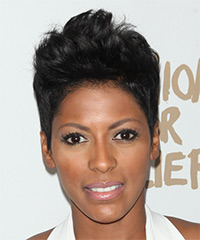 Tamron Hall Short Straight Casual    Hairstyle   - Black  Hair Color