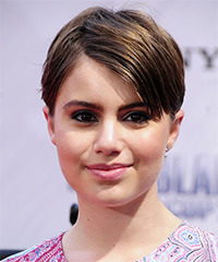 Sami Gayle Short Straight Casual    Hairstyle   -  Brunette Hair Color