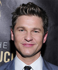David Burtka Short Straight Casual    Hairstyle   - Dark Brunette Hair Color