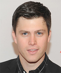 Colin Jost Short Straight Formal    Hairstyle   - Dark Brunette Hair Color