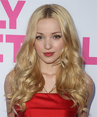 Dove Cameron Long Wavy   Light Golden Blonde   Hairstyle