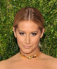 Ashley Tisdale Long Straight Formal   Updo Hairstyle   - Light Chestnut Brunette Hair Color