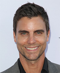 Colin Egglesfield Short Straight Casual    Hairstyle   -  Ash Brunette Hair Color