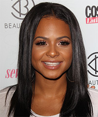 Chrisitna Milian Long Straight Casual    Hairstyle