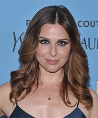 Cara Buono Long Wavy    Brunette   Hairstyle