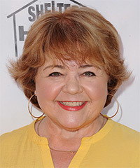 Patrika Darbo Short Straight Casual    Hairstyle with Layered Bangs  -  Ginger Red Hair Color