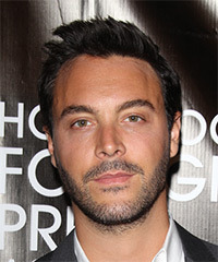 Jack Huston Short Straight Casual    Hairstyle   - Dark Brunette Hair Color
