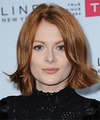 Emily Beecham Medium Straight Casual    Hairstyle   - Light Ginger Red Hair Color