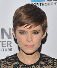 Kate Mara Short Straight Casual  Pixie  Hairstyle with Side Swept Bangs