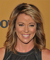 Brooke Baldwin Medium Straight Casual    Hairstyle   - Dark Blonde Hair Color with Light Blonde Highlights