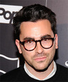 Dan Levy Short Straight Casual    Hairstyle   - Dark Brunette Hair Color