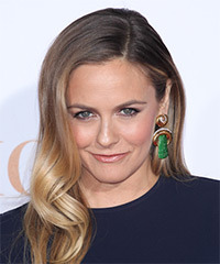 Alicia Silverstone Long Wavy Formal    Hairstyle   - Light Brunette Hair Color