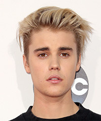 Justin Bieber Short Straight Casual    Hairstyle   - Light Blonde Hair Color