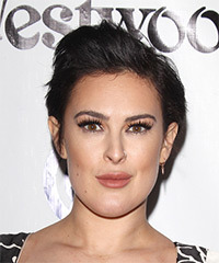 Rumer Willis Short Straight Casual    Hairstyle   - Dark Brunette Hair Color