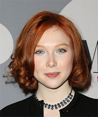 Molly C Quinn  Medium Curly Formal    Hairstyle