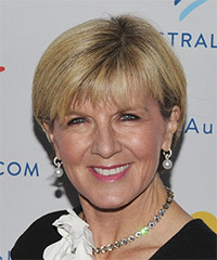 Julie Bishop Short Straight Casual    Hairstyle