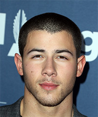 Nick Jonas Short Straight Casual    Hairstyle   - Black  Hair Color