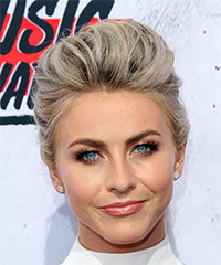 Julianne Hough Long Straight Formal   Updo Hairstyle   - Light Platinum Blonde Hair Color