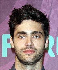 Matthew Daddario Short Wavy Casual    Hairstyle   - Dark Brunette Hair Color