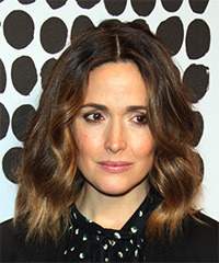 Rose Byrne Medium Wavy Casual  Bob  Hairstyle   -  Chocolate Brunette Hair Color with Light Brunette Highlights