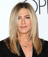 Jennifer Aniston Long Straight Formal    Hairstyle   -  Ash Blonde Hair Color